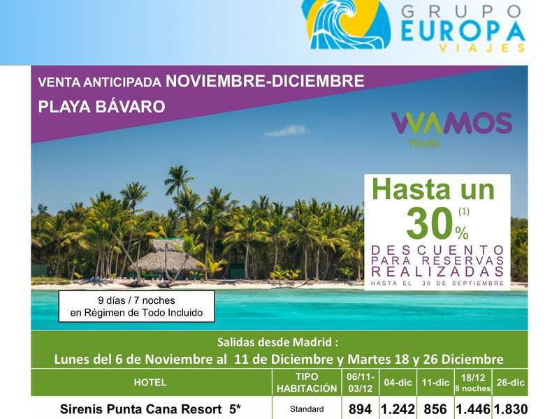VENTA ANTICIPADA PLAYA BÁVARO